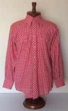 VTG Fenton Mens Red Ranch Check Pearl Snap Rockabilly Western Shirt Mens Medium