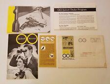 Vintage 1964 Bushnell Dealer Pamphlets For Shooter Scopes & Binoculars