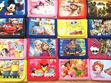 Kids Boys Girls Disney Character Coin Bag Zip Wallet Purse Stock Clearance