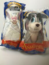 NIB Anastasia Bartok Bat & Pooka Dog Plush Toys Lot Of 2 1990's. HG4