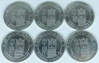 Lot of 6 Virginia Beach 44th Annual Neptune Festival Beach Life 2017 Coin Token