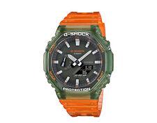 Casio G-Shock Analog Digital Hidden Coast Pack Green/Orange Watch GA2100HC-4A