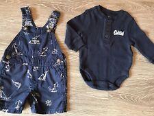 fa1888500 Bebé Niño Oshkosh 6 meses Peto Manga Larga Camiseta Térmica Pantalones  Cortos Azul Marino