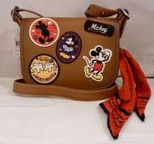 NWT COACH X DISNEY PATRICIA 23 SADDLE LEATHER MICKEY PATCHES SHOULDER BAG 59373