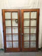 Pair of Interor Wood French Doors with 10 Beautiful Panes of Clear Glass 64x80