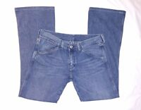 Diesel Women's Jeans Blue Faded Rare Grooved Pattern Size 29 Denim Cotton Italy