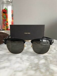 Tom Ford Henry TF 248 05N Gold/Black Clubmaster Sunglasses
