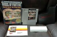 Wheel Of Fortune - NES Nintendo Game Original BOX Complete Manual Dust Cover