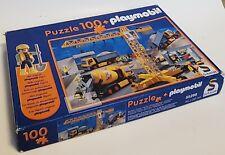 Playmobil Construction Puzzle 100 Pieces By Schmidt Missing Figure Buy It Now