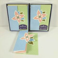 Set of 15 Unused Hallmark Blank Note Cards Layered Cutout Floral Boxed Envelopes