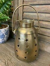 Antique Style Hanging Brass Metal Tea Light Candle Holder Lantern Wedding Table