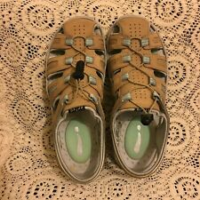 PRIVO BY CLARKS 71652 WOMENS BROWN LEATHER FISHERMAN SANDALS SIZE US 8