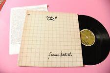 BATTIATO LP CLIC ORIGINALE 1974 CON PRESENTAZIONE DATTILOSCRITTA DI E CAFFARELLI
