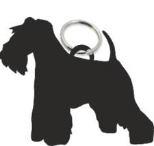 Miniature Schnauzer Dog Key Ring Fob