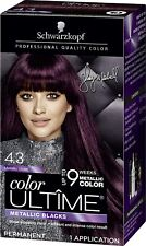 1X Schwarzkopf  Hair Color Ultime Metallic Blacks- Violet 4.3 Permanent New