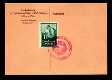 Austria Post WW2 Tirol Notopfer Event Card - L11600