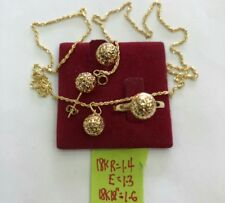 """Gold Authentic 18k gold sets ring size 6, 18"""" chain,, fptgsdg"""
