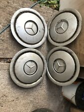Original Mercedes wheel trims X 4 for 15 inch steel wheels Can fit most mercedes