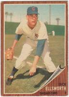 1962 Topps  #264    DICK ELLSWORTH    CHICAGO CUBS       EX to EX+