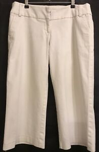 12 MISS SHOP White Christmas Day Outfit Wide Leg Cropped Crop Pants Trousers EUC