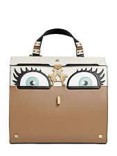 Giancarlo Petriglia Peggy Eyes Leather Top Handle Bag / Brown / RRP: £1,395.00