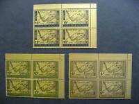 YEMEN 1968 Adenauer overprinted set in UR MNH blocks of 4, check them out!