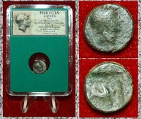 Ancient Greek Coin PHRYGIA KIBYRA Helmeted Athena and Bull on Reverse