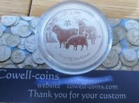 2015 AUSTRALIAN LUNAR YEAR OF THE GOAT 1/2 oz. SILVER COIN PERTH MINT