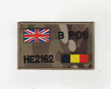 "MULTICAM MTP ZAP BADGE + UNION JACK & REME, SIZE: 4"" x 2.5"" Hook & loop backed"