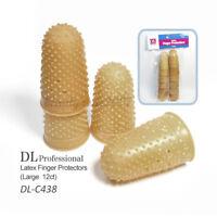 Debra Lynn DL-C438 Latex Finger Protectors Size Large 12ct/pk