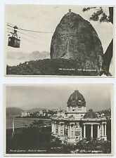 Brazil Rio de Janeiro Pao De Assucar, Palacio Monroe - Real Photo Rppc