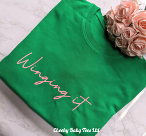 Winging It Women's Ladies Sweatshirt Sweater Jumper up to size 20 in 2 colours