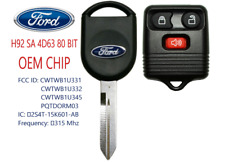 New Ford H92 SA 80 BIT OEM Original Chip + 3 button Remote Best Quality  A++