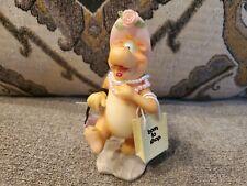 "Cute Hippo Hippopotamus Resin Figurine - ""Born To Shop"" Robert Marble"