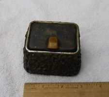 Unusual HAND MADE WELDED METAL ASHTRAY-Artist Made?-Old Car Insert-NR