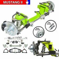 """55-57 International 26"""" Frame Mustang 2 IFS Coil Over 2"""" Drp 5x45 Man LH Rack"""