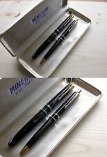 VINTAGE OMAS MINERVA 60 PEN / BALLPOINT GREY LINE COLOR SET MINT NEVER USED RARE
