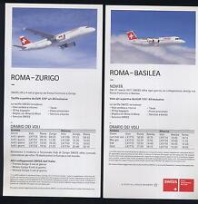 SWISS AIR leaflet Timetable flight A320 Jumbolino airline memorabilia brochur ax