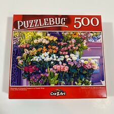 New Puzzle- 500 Piece Bouquets Of Colorful Flowers Sealed Cra-Z-Art Puzzlebug