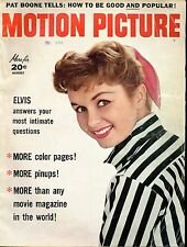 MOTION PICTURE MAGAZINE AUGUST 1957 ELVIS ANSWERS INTIMATE QUESTIONS , PAT BOONE