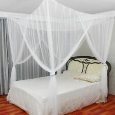 4 Corner Bed Canopy Full Queen King Size Mosquito Net Bedroom Mesh Curtain 1Pcs