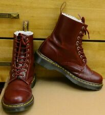 Dr Martens Serena, cherry red leather warm boots, Size UK 6, EU 39