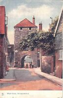 BR80925 west gate southampton postcard painting    uk