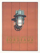 Original Vintage Poster Bordeaux Mois de L'Affiche David Goines 1987
