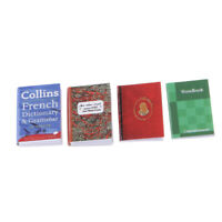 4 Stück 1/12 Puppenhaus Miniatur handgemachte Notebooks Modell Spielzeug accs