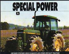 "John Deere ""série 55"" Verger, Vineyard & TRACTEUR ENJAMBEUR brochure"