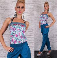 Femmes Combinaison Chino Pantalon Skinny Motif Fleur Complet Longueur Chaud