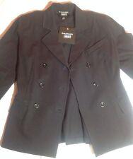 NWT  $295 Emanuel Ungaro Liberte Black Cotton Blazer Size 2 Sexy Back