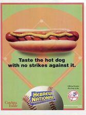 Hebrew National Official Kosher Hot Dog of the New York Yankees 2003 Ad Advert