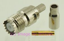 Coax Connector Mini-Uhf Female Crimp fits LMR100 RG-174 2pk - by W5SWL ®